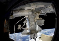 Astronaut Participates in a Spacewalk while Anchored to a Foot Restraint - various sizes, FulcrumGallery.com brand
