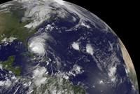 Satellite View of Hurricane Irene Moving Through the Bahamas - various sizes, FulcrumGallery.com brand