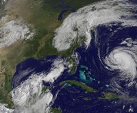 Satellite view of Several Weather Systems in the Eastern United States - various sizes, FulcrumGallery.com brand