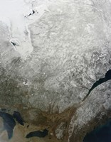 Satellite view of Eastern Canada - various sizes