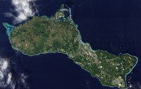 Satellite view of the Island of Guam - various sizes