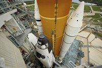Space Shuttle Atlantis on the Launch Pad at Kennedy Space Center, Florida - various sizes
