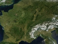 True-color Satellite view of France - various sizes