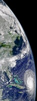 View of Hurricane Frances on a Partial view of Earth - various sizes