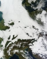 A Massive Cloudbank Sprawled over Central Europe - various sizes