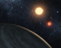 Artist's concept Illustrating Kepler-16b - various sizes, FulcrumGallery.com brand