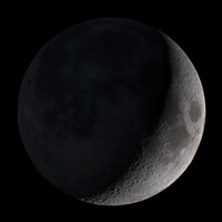 Waxing Crescent Moon - various sizes