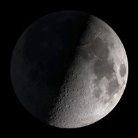 First Quarter Moon - various sizes, FulcrumGallery.com brand
