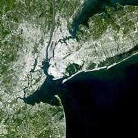 Satellite view of New York City - various sizes