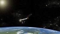 Artist's concept of the Atlas V541 Launch Vehicle in Orbit - various sizes