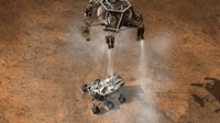 Artist's Concept of NASA's Curiosity rover touching Down onto the Martian surface - various sizes - $47.49
