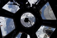 View of Earth through the Cupola on the International Space Station Fine Art Print