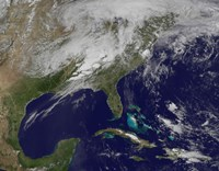 Satellite Image Showing Severe Thunderstorms and Tornados in the Eastern United States - various sizes
