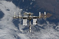 International Space Station Backgropped by a Blue and White Earth - various sizes - $47.49