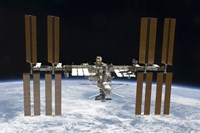 The International Space Station in Orbit Above Earth - various sizes