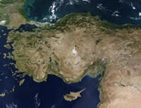 Satellite View of Turkey and the Island of Cyprus - various sizes