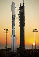 The Delta II Rocket on its Launch pad - various sizes