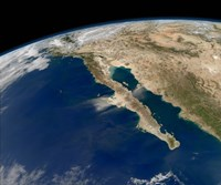 Oblique view of Baja California and the Pacific coast of Mexico - various sizes