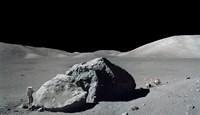 Scene from Apollo 17 Extravehicular Activity Fine Art Print