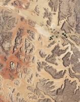 Satellite View of Wadi Rum in Southwestern Jordan - various sizes