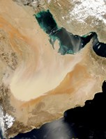 Satellite View of a Dust Storm in Saudi Arabia - various sizes