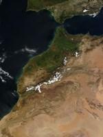Satellite view of Morocco - various sizes
