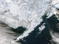 Satellite view of Southwestern Alaska - various sizes
