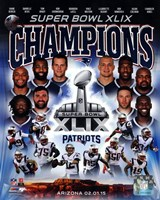 New England Patriots Super Bowl XLIX Champions Composite Framed Print