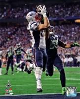 Rob Gronkowski Touchdown Super Bowl XLIX Fine Art Print