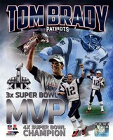 Tom Brady Super Bowl XLIX MVP Portrait Plus Fine Art Print
