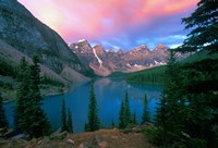 Lake Moraine at Dawn, Banff National Park, Alberta Fine Art Print
