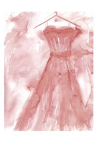 Marsala Ballgown 2 Fine Art Print