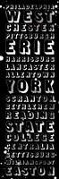 "Pennsylvania Bus Roll Black by Jace Grey - 6"" x 18"""