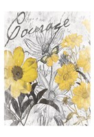 """Courage Floral by Jace Grey - 13"""" x 19"""""""