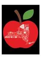 """NY apple by Jace Grey - 13"""" x 19"""""""