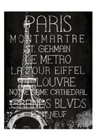 Black & White Paris Fine Art Print