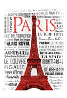 "Paris White & Red by Jace Grey - 13"" x 19"""