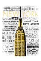 New York - Yellow Framed Print