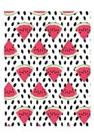 "Watermelon Seeds Pattern by Jace Grey - 13"" x 19"""