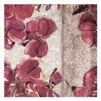 Marsala Floral II Framed Print