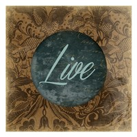 "Live by Jace Grey - 13"" x 13"", FulcrumGallery.com brand"