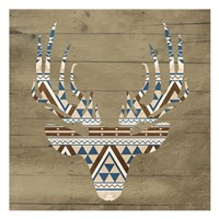 "Aztec Deer by Jace Grey - 13"" x 13"""