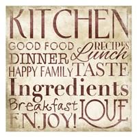 "Marsala Kitchen Type by Jace Grey - 13"" x 13"""