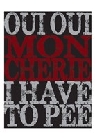 Oui Oui Typography 01 Fine Art Print