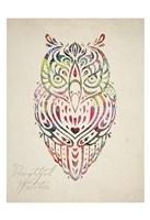 "Owl Set 02 by Melody Hogan - 13"" x 19"""