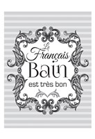 French Grey Bath 1 Fine Art Print