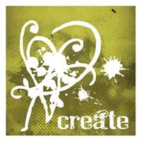 "Create Olive by Melody Hogan - 13"" x 13"""