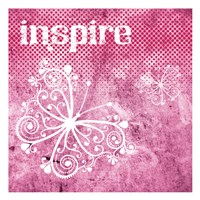 "Pink Inspire by Melody Hogan - 13"" x 13"""