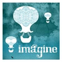 "Imagine Teal by Melody Hogan - 13"" x 13"""