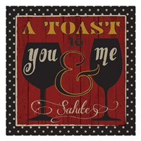 "Toast to Life 1 by Melody Hogan - 13"" x 13"""